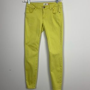 CAbiYellow Skinny Jeans Size 4